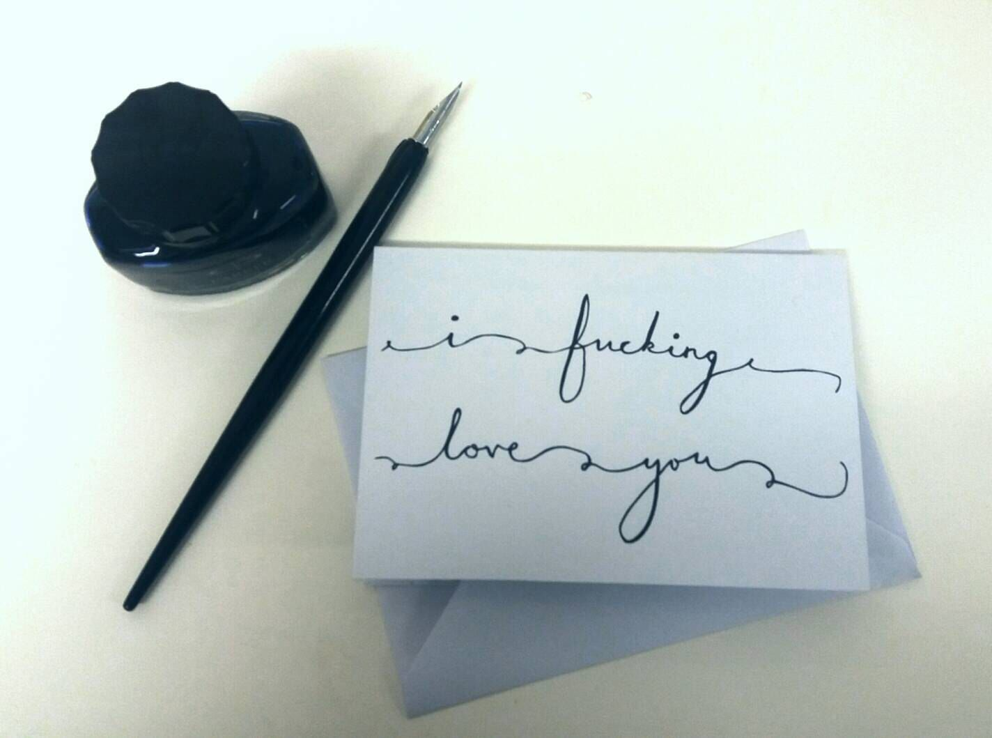 I fucking love you greeting cards valentine s cards anniversary