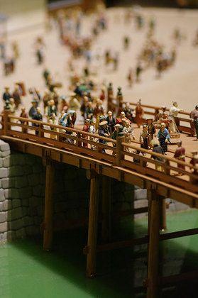 Scale model of Nihonbashi bridge in Edo-Tokyo 日本橋