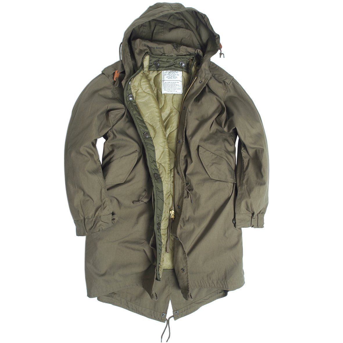 U.S. SHELL HOODED PARKA M51 M.FU.OLIVE - Size M: Amazon.co.uk ...