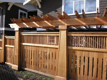 Craftsman Style Remodel | Craftsman Style Fence Design Ideas, Pictures, Remodel, and Decor #craftsmanstylehomes