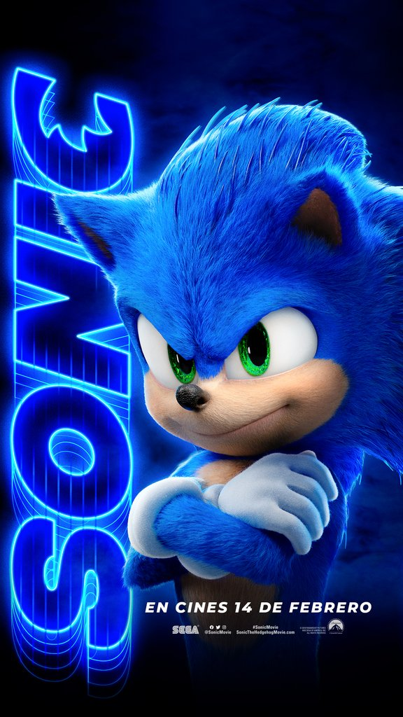 Check Out This New Poster For The Upcoming Live Action Sonic The Hedgehog Movie In 2020 Hedgehog Movie Sonic The Hedgehog Sonic The Movie