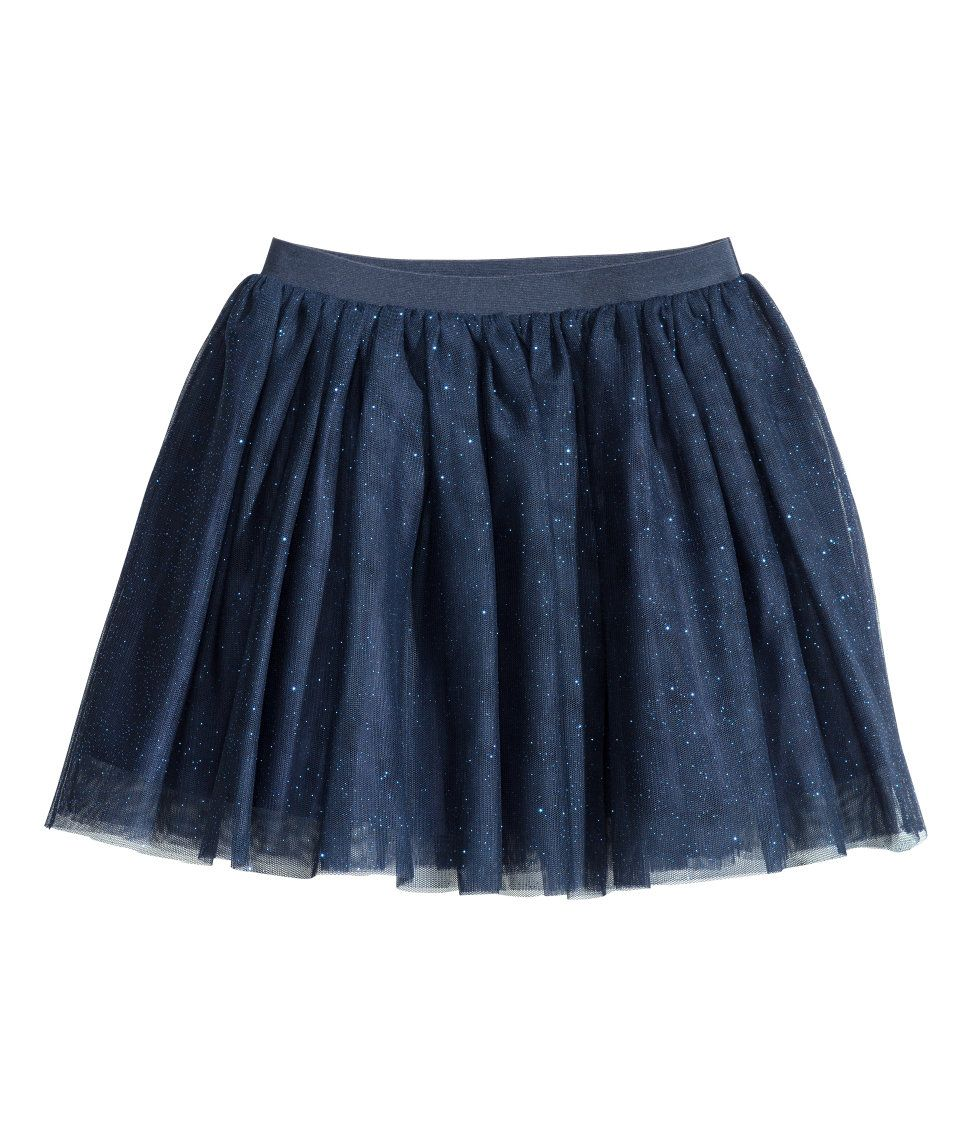 abb7c1d84 Tulle Skirt with Glitter | H&M Kids | Ella style | Skirts, Blue ...