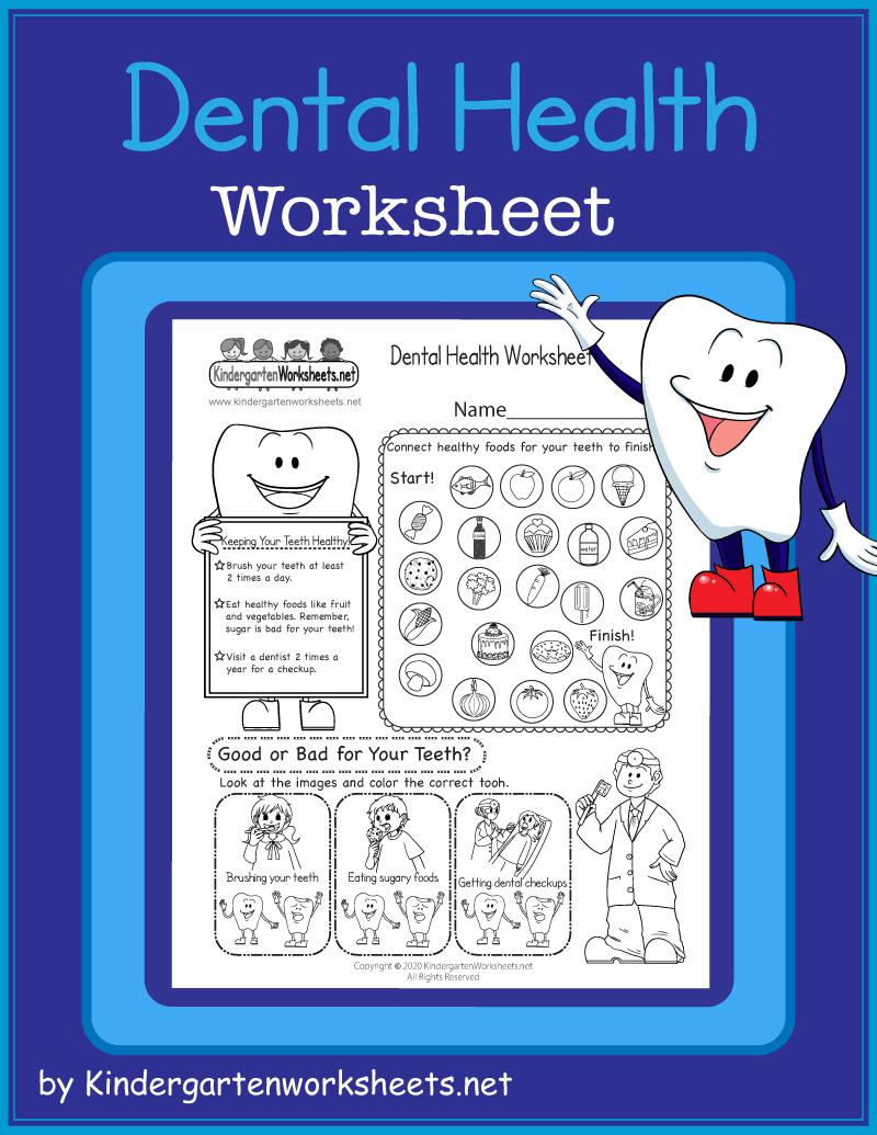 Kindergarten Dental Health Worksheet Dental Health Kindergarten Free Dental [ 1035 x 800 Pixel ]