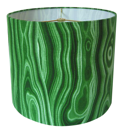 Malachite green small drum shade drum shade drums and fabric samples new handcrafted lamp shade materials designer fabric wire lamp shade rings styrene made to order ready to ship in 2 3 weeks upon order your shade aloadofball Images