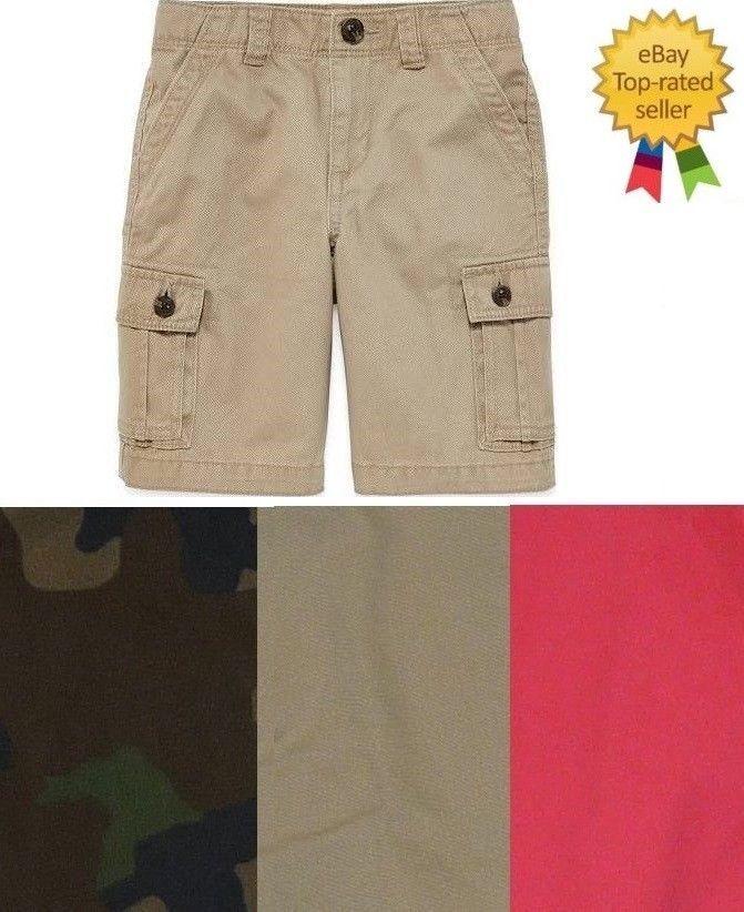 9e425ac7e4 Arizona Boys Ripstop Cargo Shorts Adjustable Kids size 12 16 20 NEW | eBay