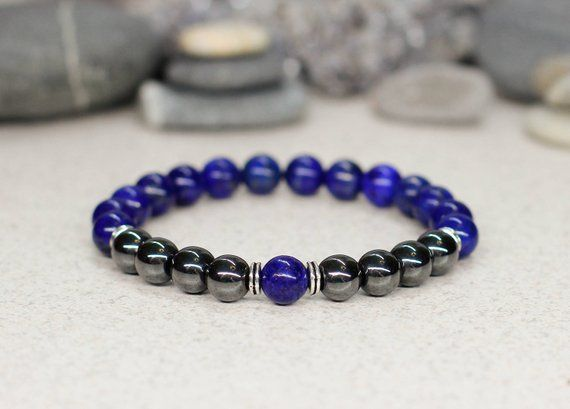 Photo of Lapis lazuli bracelet Mens bracelet Happy birthday gifts for dad christmas gifts for brother stocking stuffers for men boyfriend husband him