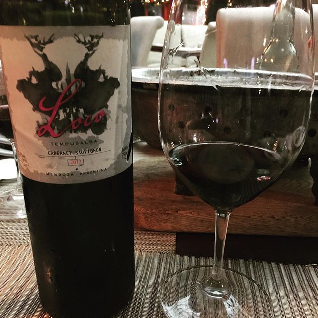 Compartiendo vino, conpartiendo momentos!! Loco!! Cabernet!  - Weinkrake #mywinemoment