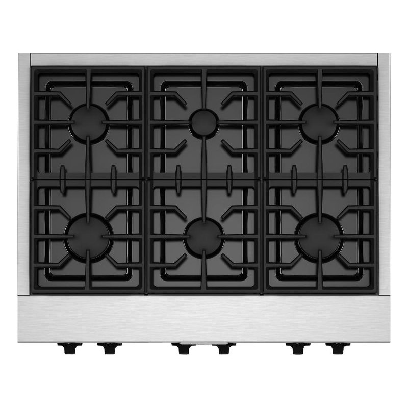 Kitchenaid 36 inch gas commercial style rangetop with six