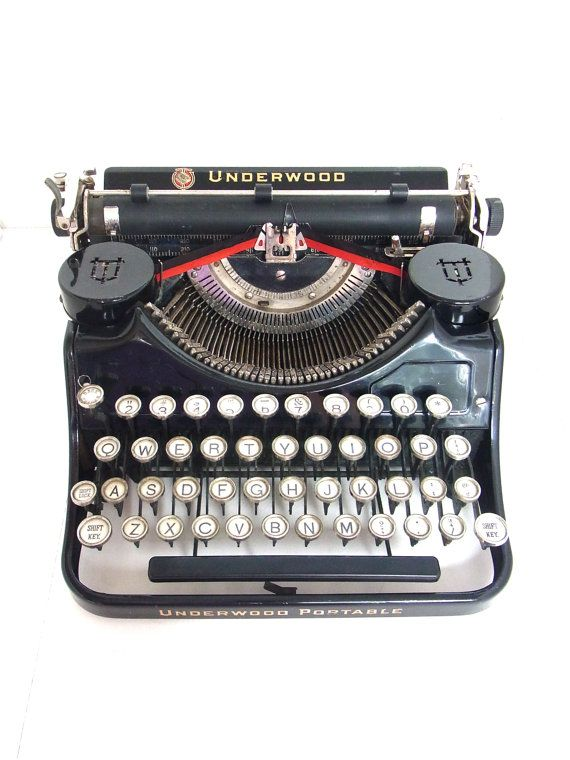 working typewriter 1920s vintage underwood by thespectaclednewt