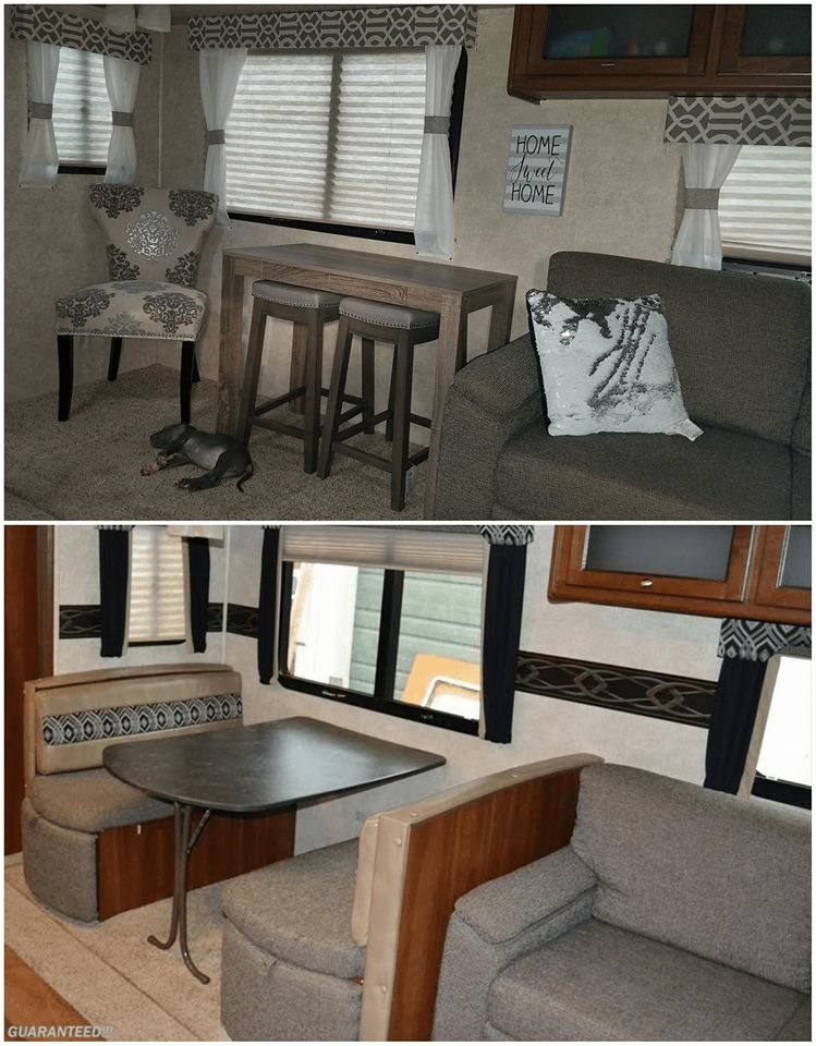 Replaced Rv Dining Booth With A Bar Table And Stools Rvs Campers Travel Trailers And Motorhomes Without T