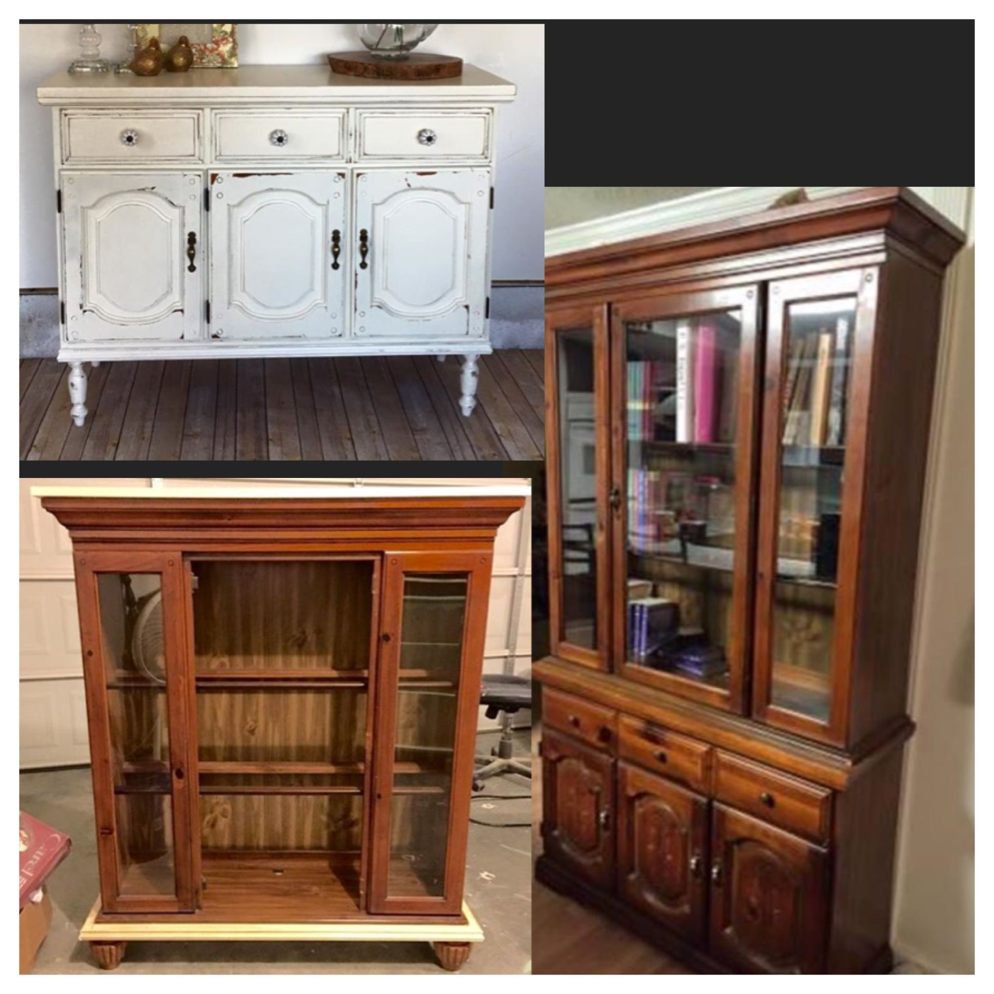 Separate China hutch to make two new pieces and add legs ...
