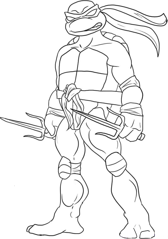 Ninja Turtles Coloring Pages 03 Batucum Malvorlagen Für Kinder