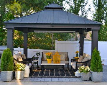 Outdoor Oasis Contemporary Patio Patio Gazebo Backyard
