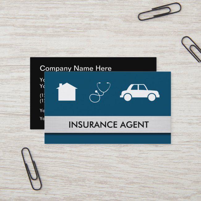 Home Auto Health Insurance Agent Business Card | Zazzle ...
