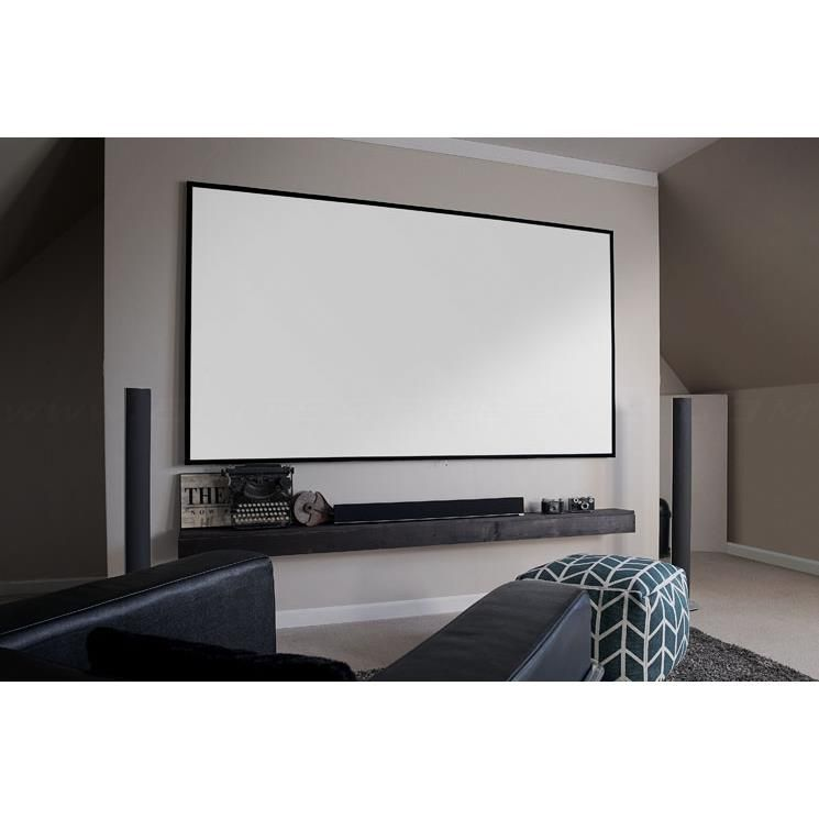 Elite Screens Ar110wh2 Aeon 110 Fixed Frame Projector Screen Fixed Projector Screen Media Room Design Projector Screen