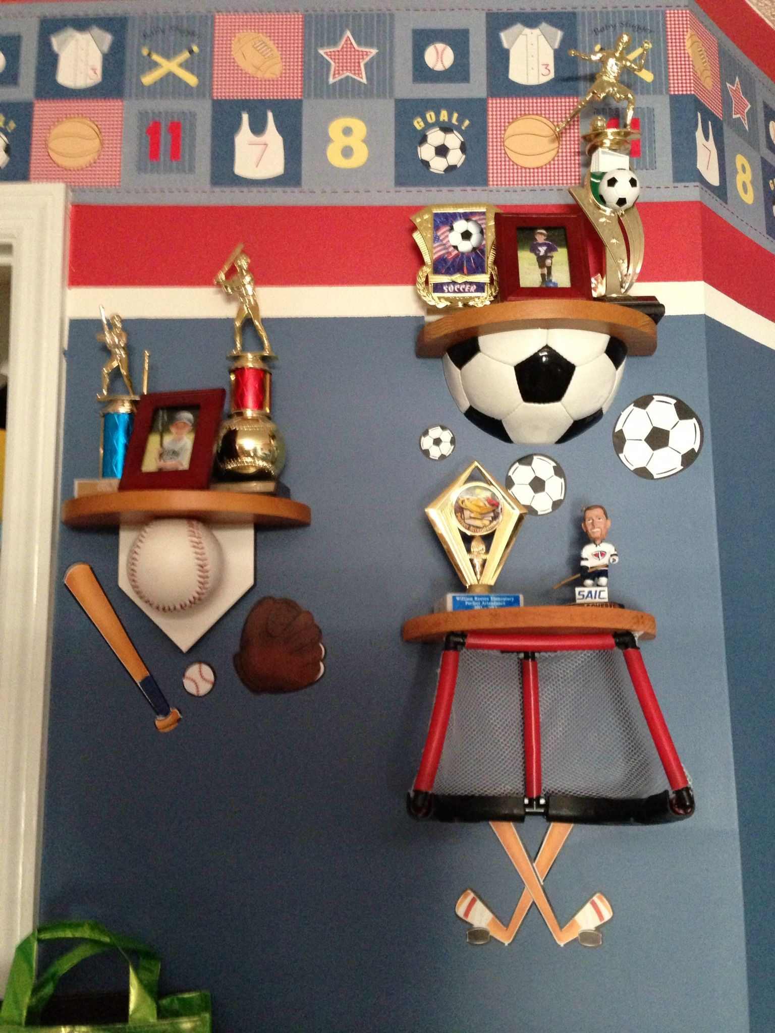 We Found The Soccer And Baseball Shelves Online But No Hockey It