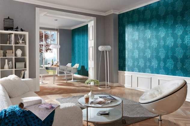 Dieter Bohlen  Studio Line Opulent Tapete Wohnzimmer Ideen fürs - wohnzimmer ideen petrol