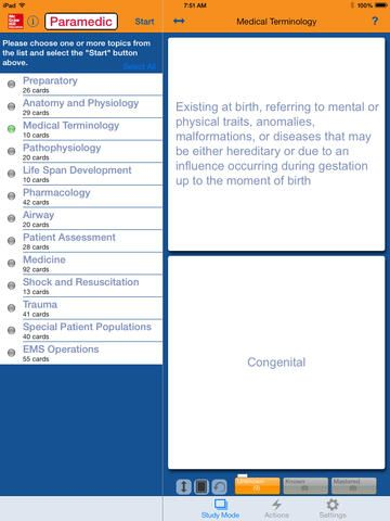 iPad Screenshot 4 Paramedic Certification Exam Flashcards | McGraw ...