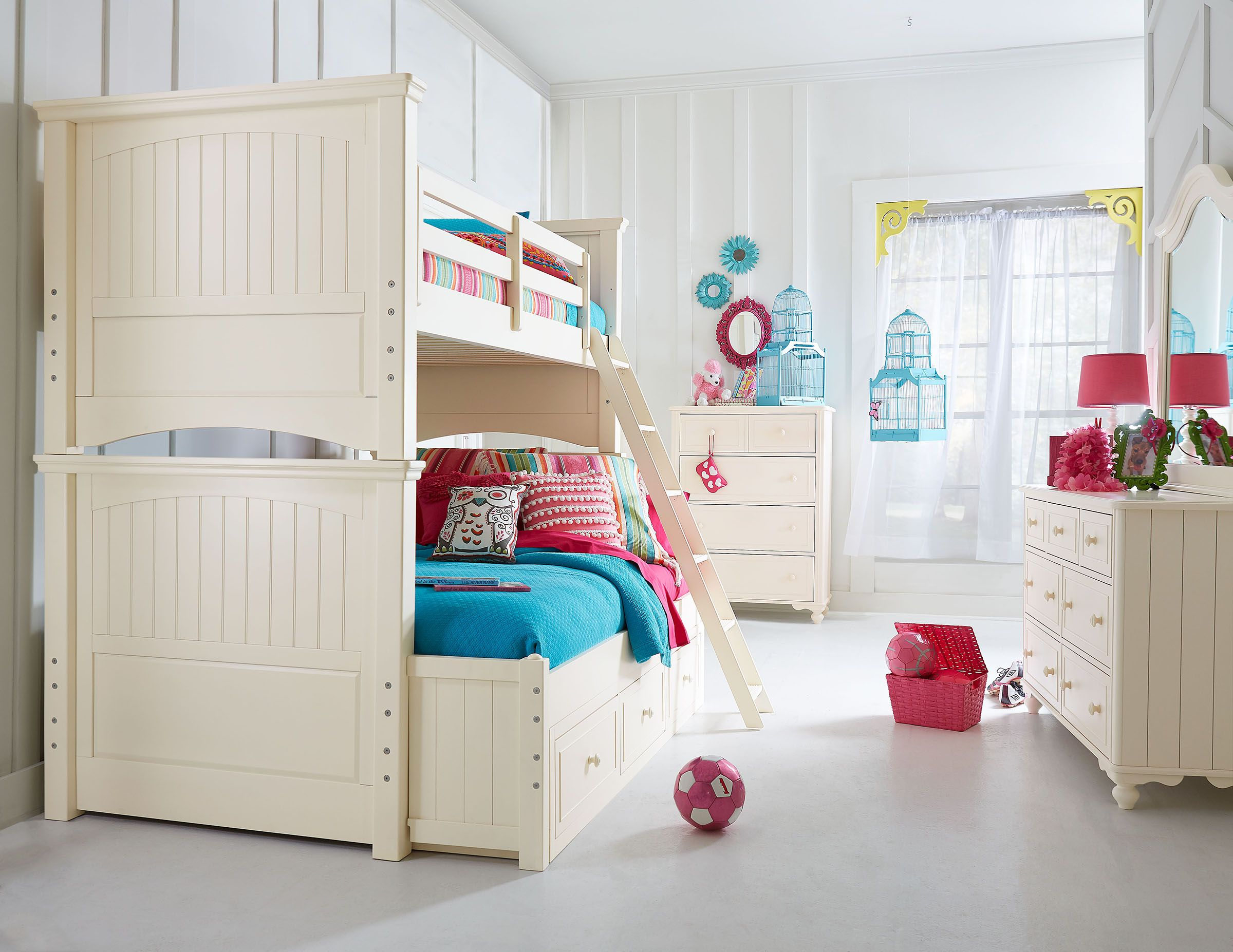Loft bed plans full size  The Summerset Collection Bunk Bed with FullSize Bottom Extension