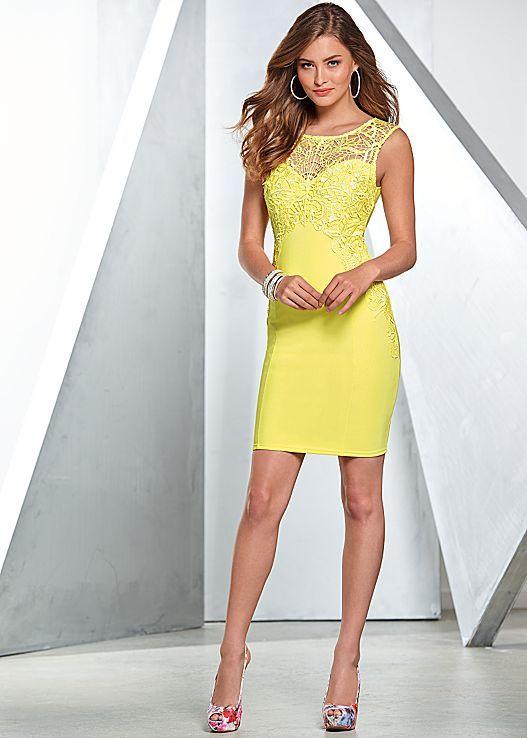 This mini lace dress is oh-so-dreamy! Venus mini lace detailed dress and slingback peep toe.