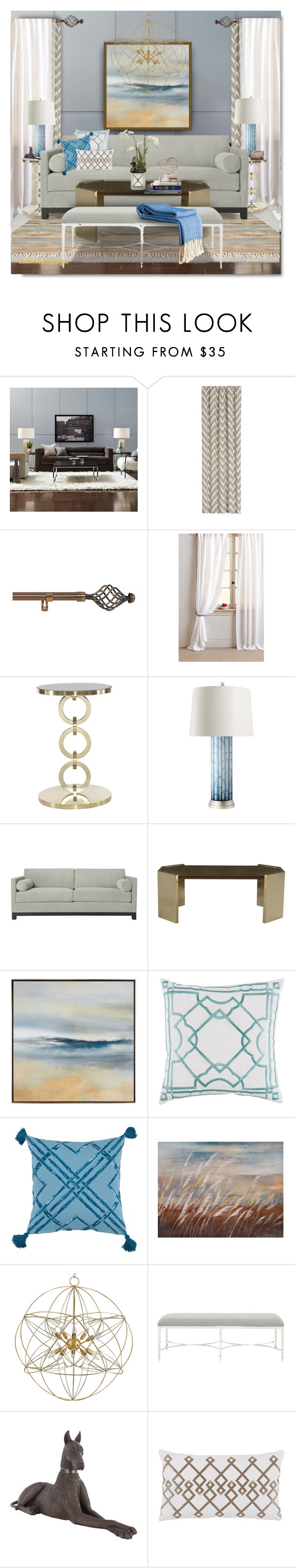 """..Change in Scenery!!!"" by addicted2design ❤ liked on Polyvore featuring interior, interiors, interior design, home, home decor, interior decorating, Mitchell Gold + Bob Williams, Crate and Barrel, Achim and Everest"