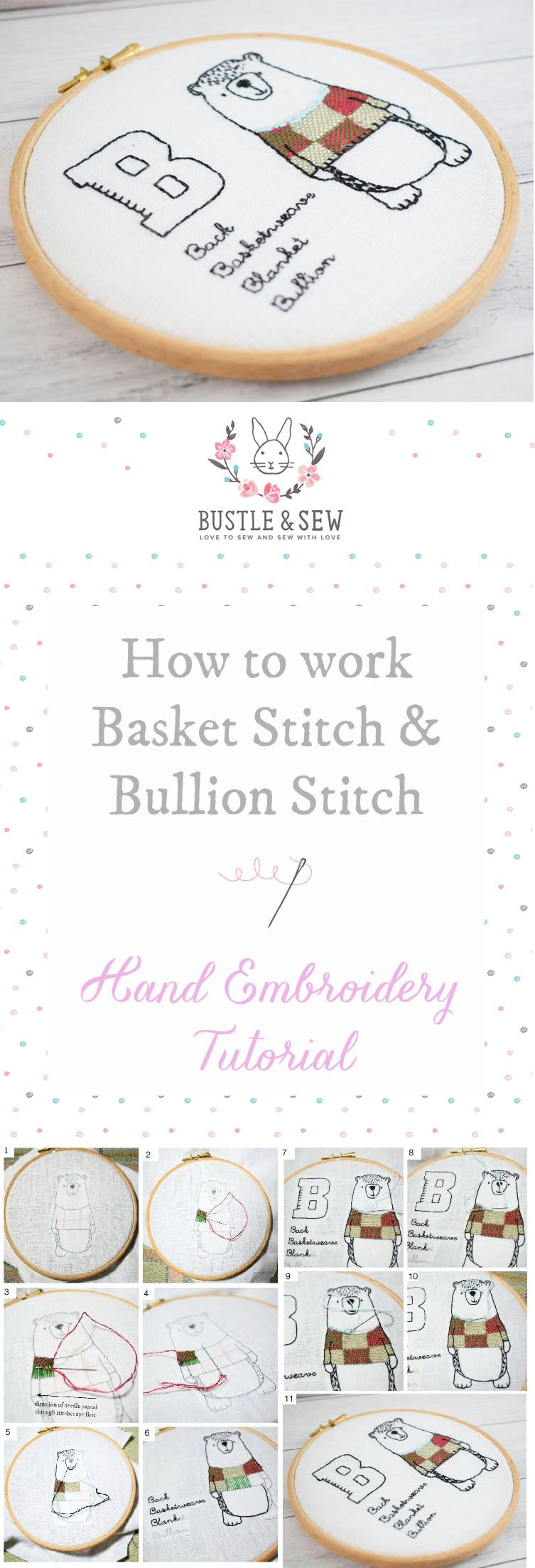 Ever Wondered How To Work Basketweave Stitch And Bullion Stitch Our