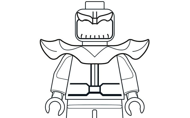 Mighty Micros Thanos | LEGO® Coloring Sheets | Pinterest