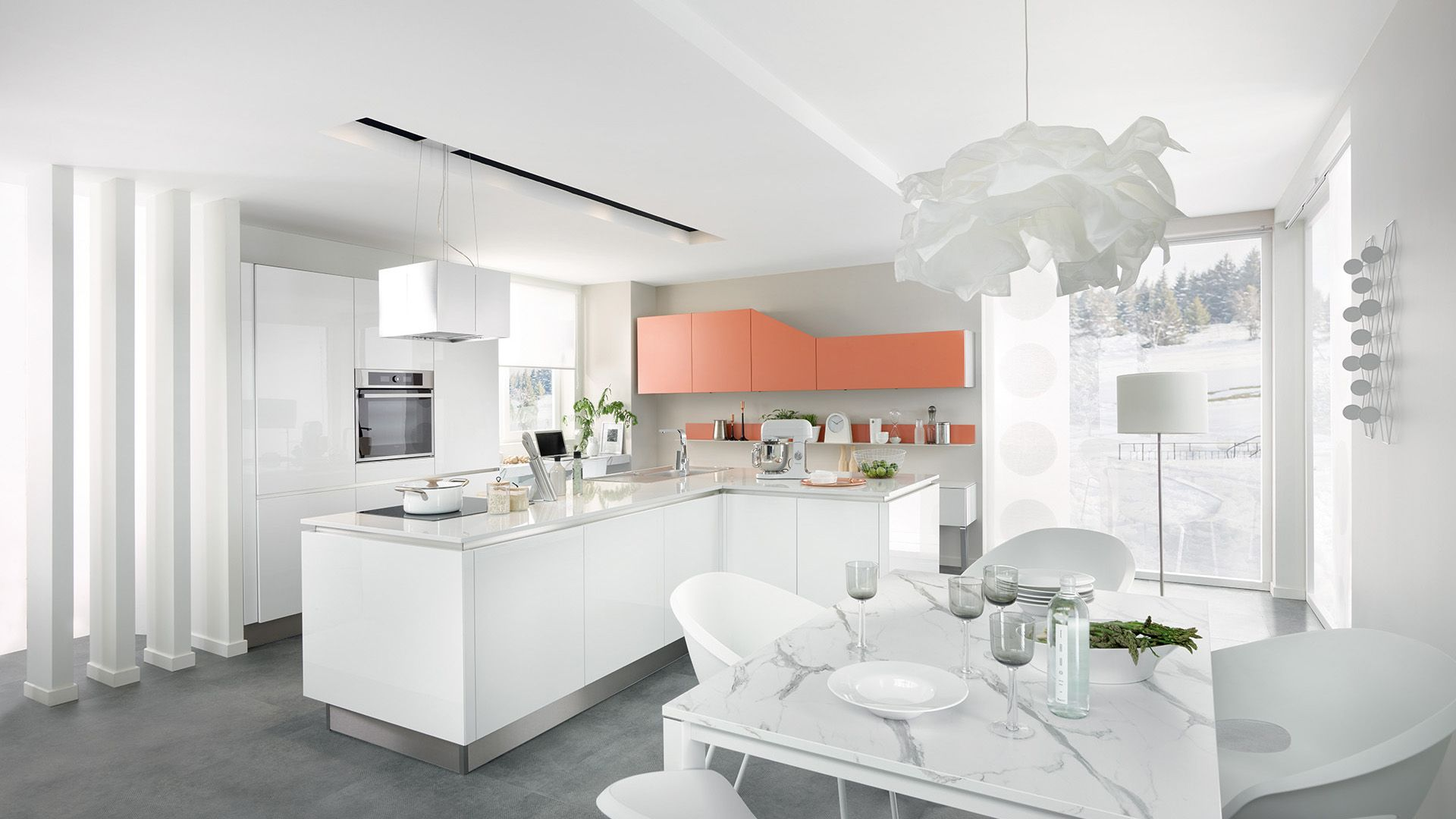 Cuisine Equipee E Light Style Design Blanc Cuisinella