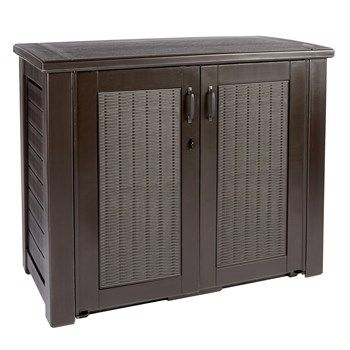Rubbermaid® Brown Patio Storage Cabinet - Christmas Tree ...