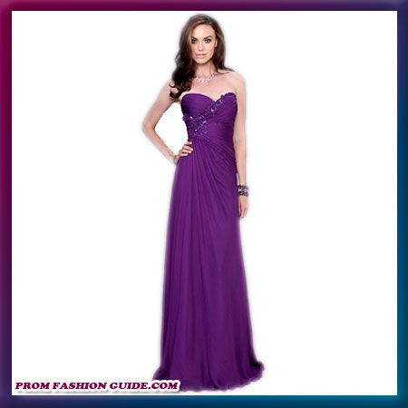 Purple Long dress, short in front bridesmaid dresses | above ...