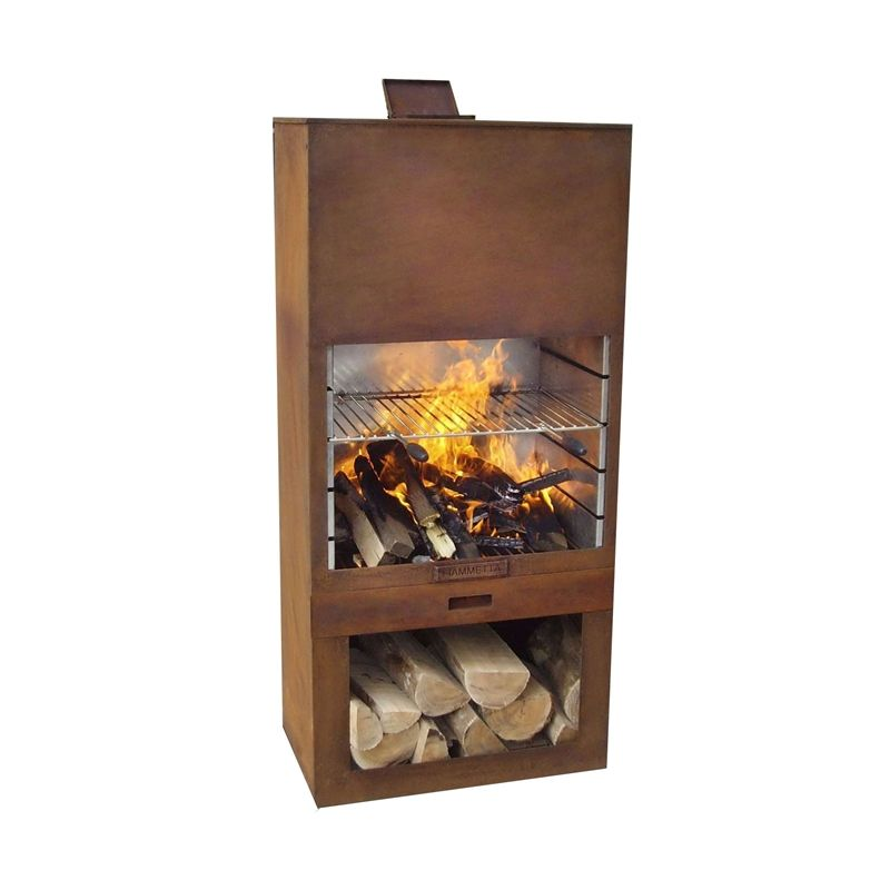 Find Fiammetta 70 x 41 x 151.5cm Fireplace and BBQ at Bunnings ...