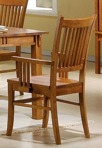 Coaster Set Of 2 Dining Arm Chairs Mission Style Medium