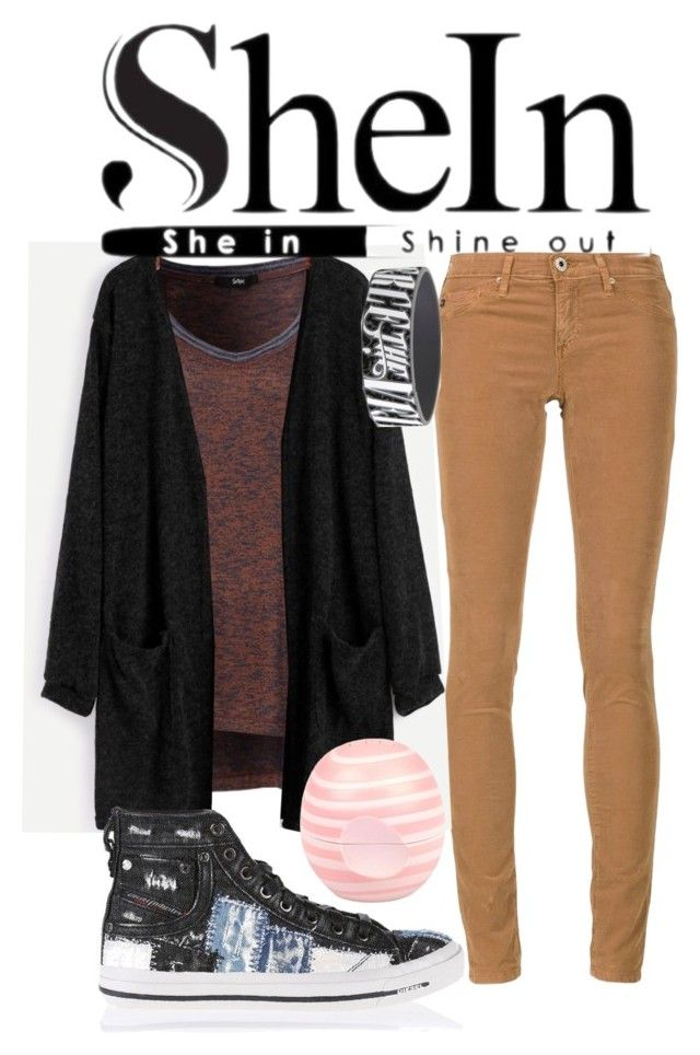 """""""SheIn Sweater"""" by horselover35125 ❤ liked on Polyvore featuring AG Adriano Goldschmied, Diesel, River Island and shein"""