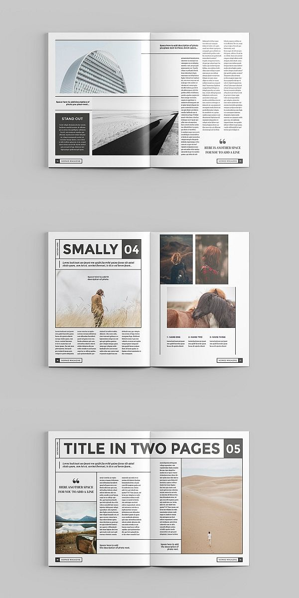 Nomad Magazine Template #editoriallayout