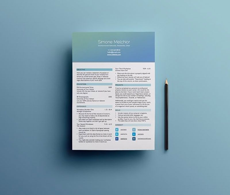 50 Coolest Resume Templates - Free to download and use - cool resume templates free