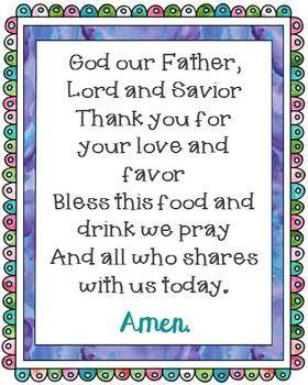God Our Father Poster. Prayer, Blessings, Dinner, Meals. | Prayers for children, Mealtime prayers, Childrens prayer