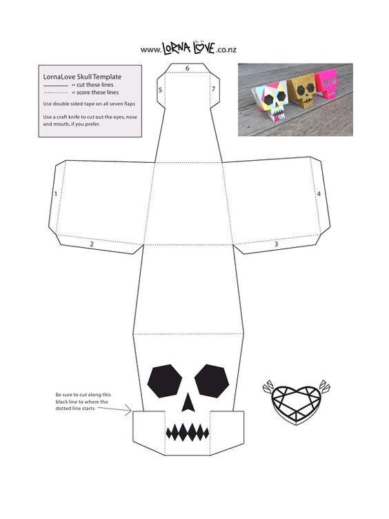 lornalove papercraft skull lornalovepapercraftskull