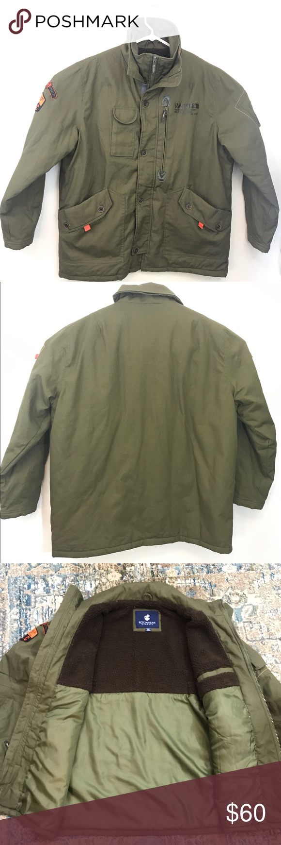 Rocawear Classic Men S Jacket Size 3xl Army Green Rocawear Classic Men S Jacket Size 3xl Army Green Excellent Condition Like N Mens Jackets Army Green Rocawear [ 1740 x 580 Pixel ]
