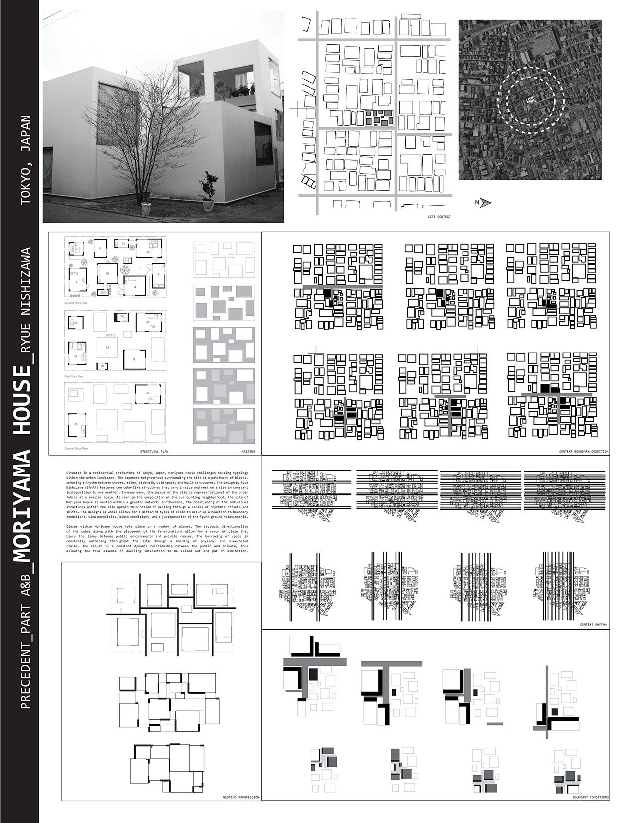 Systematic studies of Moriyama House. In collaboration
