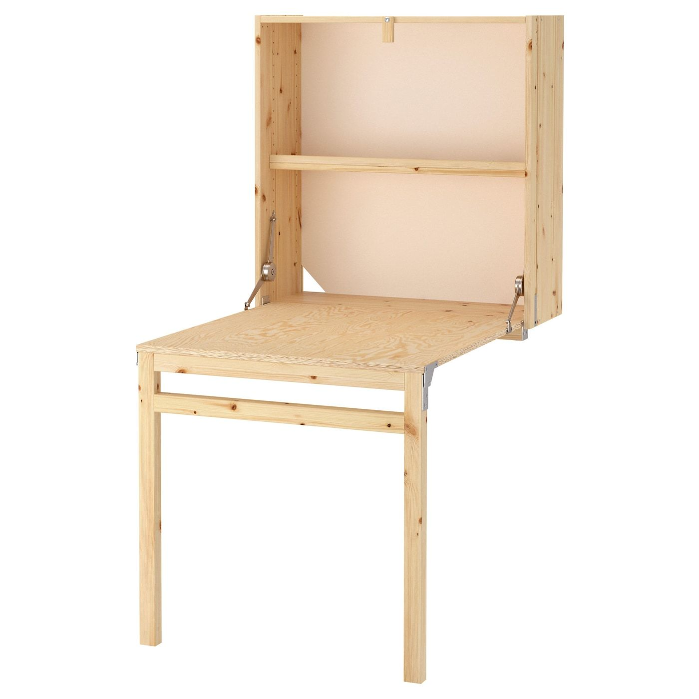 Ivar Storage Unit With Foldable Table Pine Ikea In 2020 Foldable Table Ikea Ikea Ivar