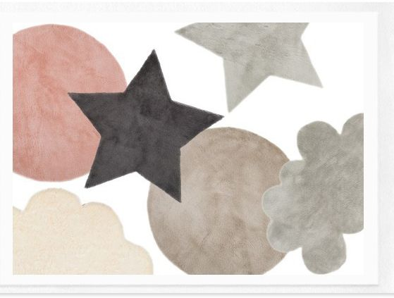 tapis moelleux nanelle pour enfants 49 euros en forme nuage toile et rond boutique. Black Bedroom Furniture Sets. Home Design Ideas
