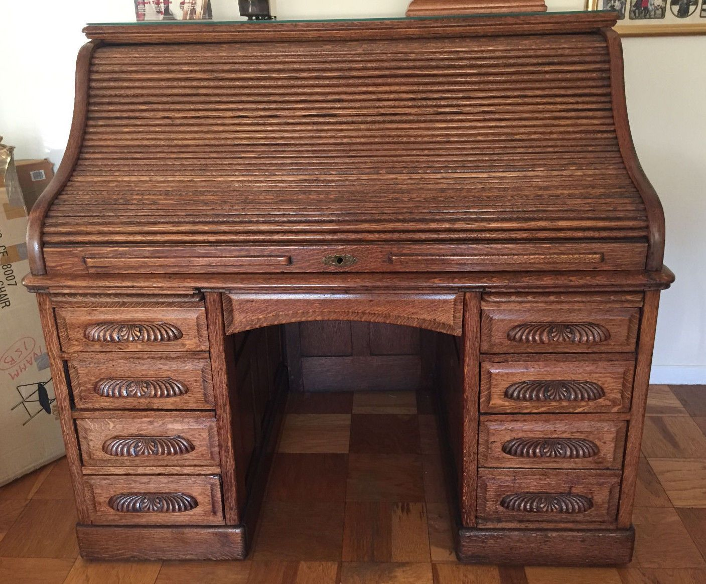 Antique Oak Roll Top Desk | eBay - Antique Oak Roll Top Desk EBay Quartersawn Oak Wishlist