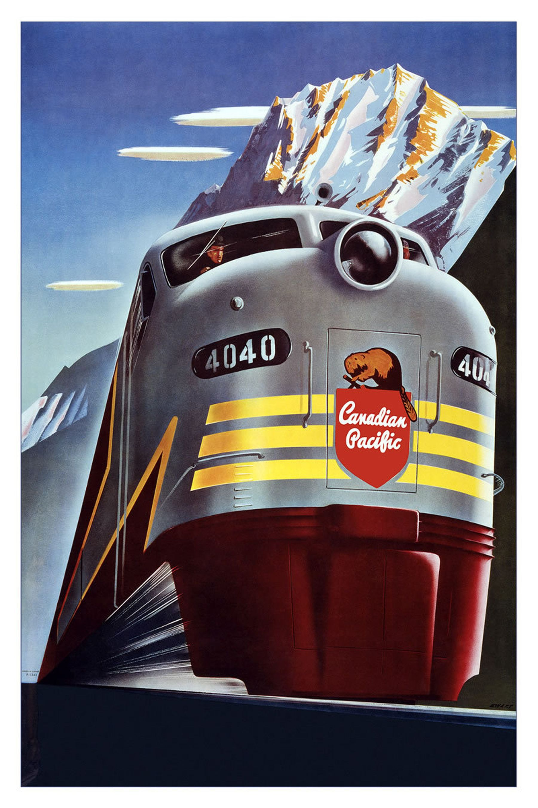 """""""Travel On The Canadian Pacific"""" poster"""