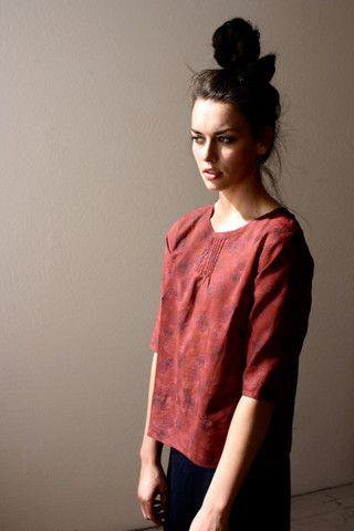Inspiration: pintuck blouse - heirloom