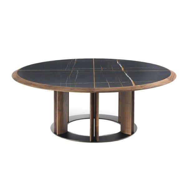 39++ Elegant round dining table wood and metal Various Types