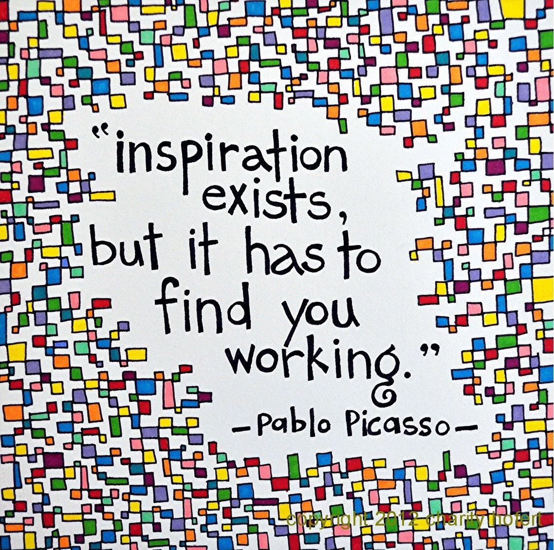 Picasso quote art quotes pinterest picasso inspiration and etsy