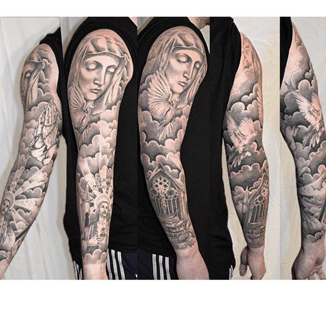 Pin on Religious Tattoo Sleeve Designs I like