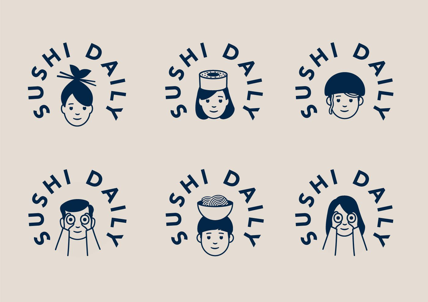 Sushi Daily logo and identity, by Without | Logo Design Love