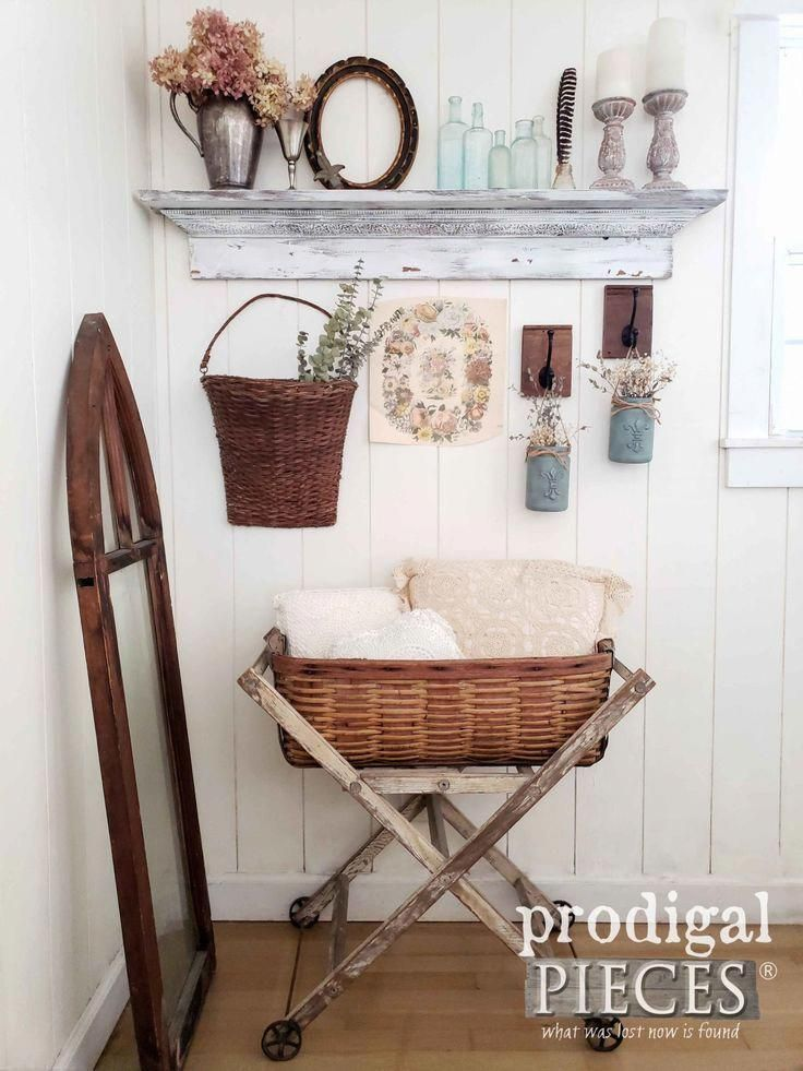 homedecor handmade #home #decor #homedecor You can create this vintage vignette too! Farmhouse Style Decor Ideas at Prodigal Pieces | prodigalpieces.com #prodigalpieces #farmhouse #home #homedecor #handmade #vintage #diy #housedecor
