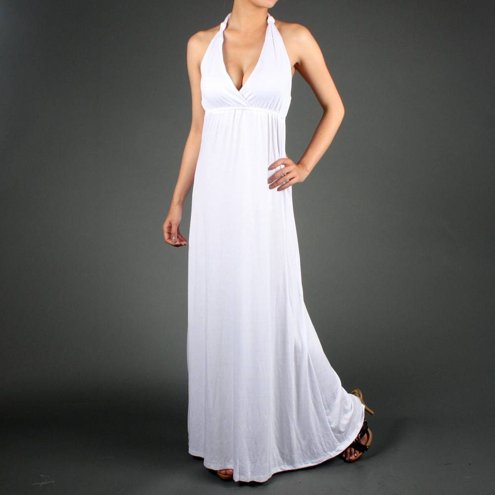Hot new maxi boho knot halter celeb long dress wedding stuff